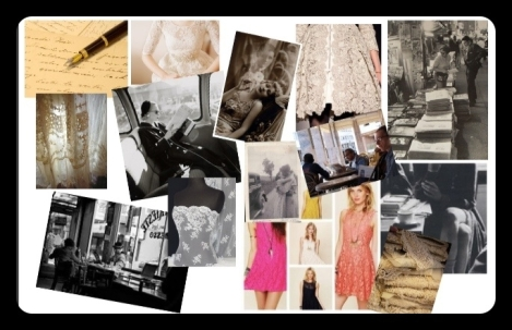A snapshot of my moodboard - images and inspiration from Pinterest boards.
